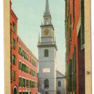 Old North Church Boston MA Vintage Gold Border Julius Bien Postcard