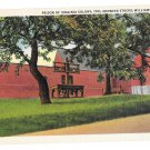 VA Williamsburg Virginia Colony Prison showing Stocks curteich Linen Postcard