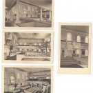 Boston MA Old South Meeting House Interiors Meriden Gravure 4 Collotype postcards