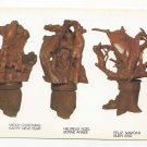 Haiti Artists Rouzier Merant Nativity Carvings Vtg Naders Gallery Art Postcard 4X6