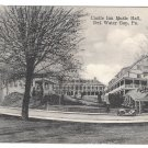 Delaware Water Gap PA 1912 Castle Inn Music Hall Hausers Postcard Doremus Cancel