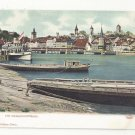 Switzerland Luzern Lucerne Dampfschifflande Steamship Vintage c 1905 UDB Postcard