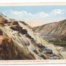 WY Yellowstone National Park Jupiter Terrace Vintage J.E. Haynes Postcard 23297