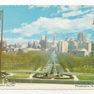 Philadelphia PA Panorama Skyline Eakins Oval Parkway City Hall Vintage Postcard 4X6
