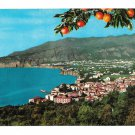 Italy Sorrento Panorama View from Villa Parisi Vtg 4X6 Postcard