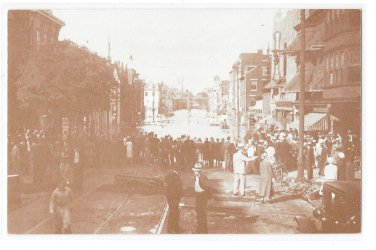 York PA 1933 Florence Wertz Flood Photo West Market Street 1970's Vintage Postcard
