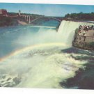 NY Niagara Falls Rainbow in the Mist Vintage New York Postcard