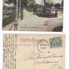 Sc 328 Jamestown lebanon Flag Cancel Reading duplex 1907 Deer Fountain Postcard