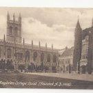UK Oxford University England Magdalen College Quad Vtg Frith's Postcard Quadrangle