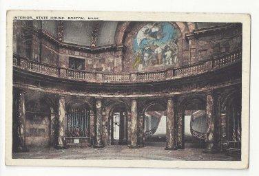 Boston MA State House Interior Tichnor Vintage Postcard 1924