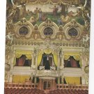 Monaco Monte Carlo La Salle Garnier Opera House Interior Vintage 4X6 Postcard