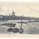 UK England London St Paul's Cathedral from Waterloo Bridge Vintage Beagles Postcard