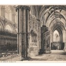 UK Ely Cathedral Choir Aisle England Cambridgeshire Vintage Photochrom Postcard GB