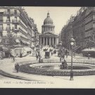France Paris Rue Soufflot et le Pantheon Lucien Levy Postcard c 1910