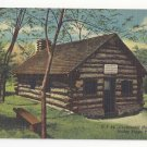 PA Valley Forge Continental Hospital Hut Curteich Linen Vintage Postcard
