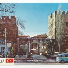 Turkey Antalya Hadrians Gate Portal VW Bus Volkswagen Hitit Postcard Vintage 4X6