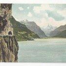 Switzerland Axenstrasse u Fluelen UDB Vintage Autochrom Postcard c 1905