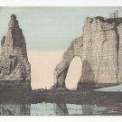 France Etretat l' Aiguille et Porte d' Aval Rock Needle ca 1910 Vintage ND Postcard