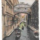 Italy Venezia Ponte dei Sospiri Gondola Canal Bridge of Sighs Vintage Postcard