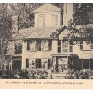 MA Concord Wayside Home of Nathaniel Hawthorne Author Vintage Postcard Tanner