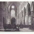 UK Lincoln Cathedral Nave Looking West Interior Vintage TT&S Queen Series Postcard