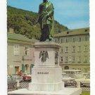 Austria Salzburg Memorial Statue Mozart Vintage 4X6 Postcard