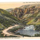 WY Thermopolis Wind River Canyon Highway US 20 Vintage Linen Postcard Wyoming