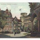 Germany Heidelberg Schloss Schlosshof Vtg c 1910 Fischer Krmaer Postcard