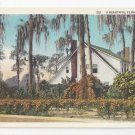 FL Beautiful Florida Home Residence Vintage Curteich Postcard