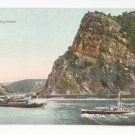 Germany Loreleyfelsen Lorelei Rock Rhein River Boats Vintage Trenkler Postcard c 1910
