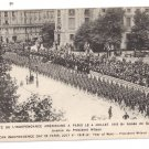 WWI Paris France 1918 4th of July President Wilson Parade Avenue Vintage Postcard