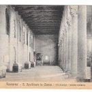 Ravenna Italy Basilica S Apollinare in Classe Church Interior Left Nave Vtg Postcard