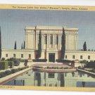 Arizona Latter Day Saints Mormon Temple Mesa Vintage Linen Postcard 1948