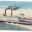 Southern Pacific Ferry Steamer Santa Clara San Francisco to Oakland CA Vintage PNC Postcard