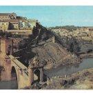 Spain Toledo Piente de Alcantara Bridge Vintage Birds eye view Postcard