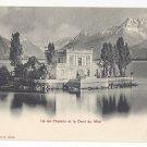 Switzerland Ile de Clarens Dent du Midi Vintage Photoglob UDB Postcard c 1905