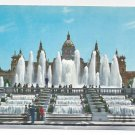 Spain Barcelona Magic Fountain of Montjuic Fuentes Monumental Vtg Catalonia Postcard 4X6