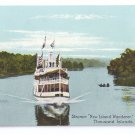 Thousand Islands NY New Island Wanderer Steamer Alexandria Bay Vintage ca 1910 Postcard