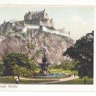 UK Scotland Ross Fountain Edinburgh Castle Vtg Postcard