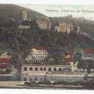 Germany Heidelberg Schloss von der Hirschgasse gesehen Castle Vtg Postcard c 1910
