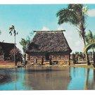 Hawaii Oahu Fijian Chief's House Polynesian Cultural Center Vintage Postcard