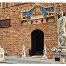 Italy Firenze Florence Signoria Square Palazzo Vecchio Sculpture Vintage 4X6 Postcard