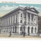 Portland Maine Post Office Eastern News Co ME Postcard ca 1920
