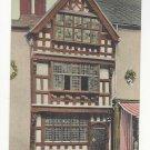 England UK Stratford on Avon Harvard House Vtg Peacock Stylochrom Postcard c1910