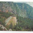 Greece Delphi Stadium Aerial View Archaelogy Greek Ruins Vtg Postcard 4X6