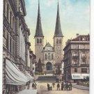 Switzerland Luzern Lucerne Hofkirche E Goetz Postcard Vintage ca 1910
