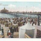 Netherlands Holland Hague Scheveningen Strand Wandelhoofd Beach c 1910 Postcard
