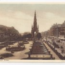 UK Scotland Edinburgh Princes Street Scott Monument Gardens Vtg Photochrom Postcard