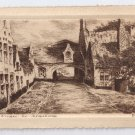 Belgium Bruges le Beguinage Convent Etching 1925 Postcard Signed D.D.