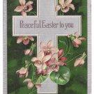 Vintage Easter Postcard Silver Cross Violets 1908 Embossed PFB Paul Finkenrath